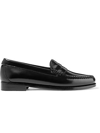 Re/Done + Weejuns The Whitney Glossed-leather Loafers - Black