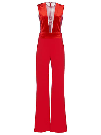 c8a16e22f44 Galvan Red Womens Velvet Gwyneth Jumpsuit - The Webster