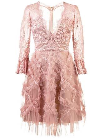 Marchesa tulle embellished dress - Pink