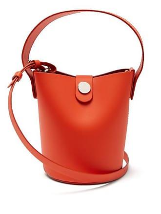 d068569278c Sophie Hulme Nano Swing Leather Bucket Bag - Womens - Orange