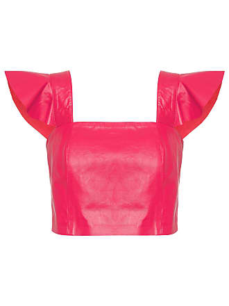 Mixed TOP CROPPED LEATHER - VERMELHO