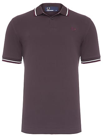 Fred Perry POLO MASCULINA TWIN TIPPED - MARROM