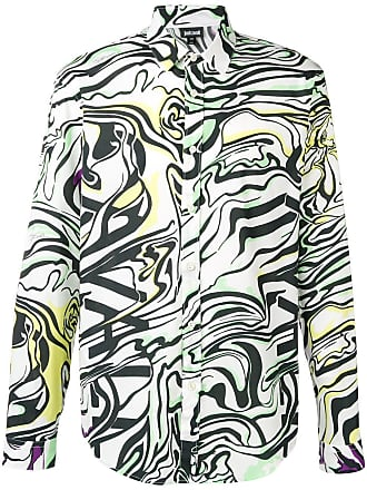 Just Cavalli Camisa de seda com estampa abstrata - Branco