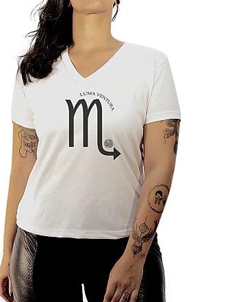 Luma Ventura Camiseta Luma Ventura Signo Escorpião Branca