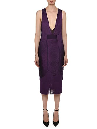 c3a2fd75e04 Tom Ford Plunging Racerback Sleeveless Draped-Fringe Midi Cocktail Dress