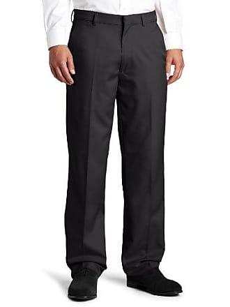 Haggar Mens Flex Gabardine Solid Plain Front Dress Pant,Gray,38x30