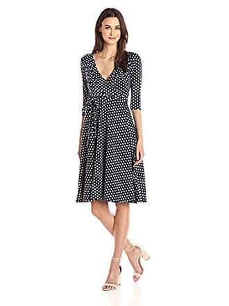 Unique Vintage Womens Kelsie Polka Dot Dress, Navy & Ivory, XS