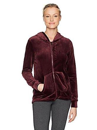 Andrew Marc Womens Velvet Zipup Jacket, Burgundy, S