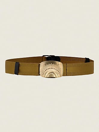 Dorothee Schumacher BELTED STATEMENT stretch belt with rising sun clip buckle S