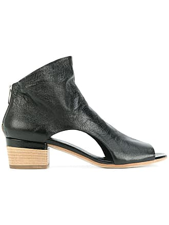 Officine Creative open toe cut out sides ankle boots - Black