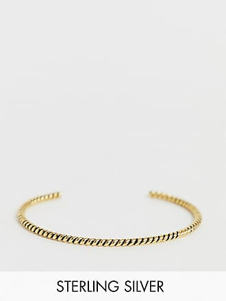 18a1a7c1c04 Asos Bracelet torsadé en argent massif - Or brûlé - Doré