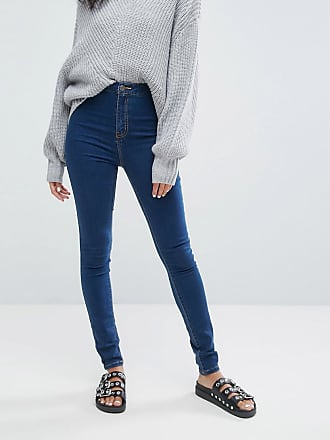Noisy May high waist skinny jean in blue - Blue