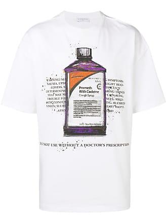 Ih Nom Uh Nit Camiseta com estampa Cough Syrup Bottle - Branco