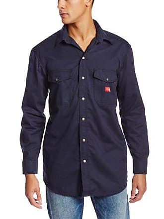 6dfcdff199 Dickies Mens Big Flame Resistant Long Sleeve Twill Snap Front Shirt