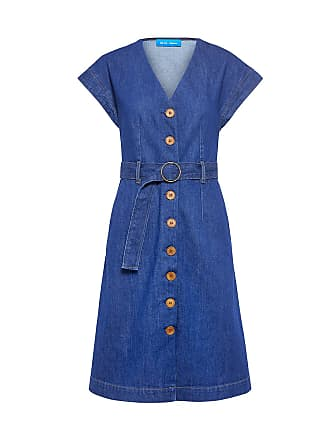 Mih Jeans Tucson Belted Denim Dress Blue Fsb