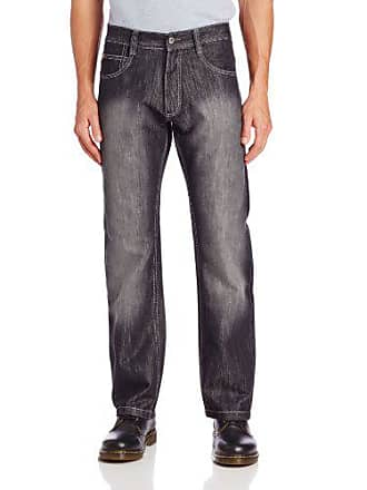 Southpole Mens 4180 Relaxed Fit ShJeany Streaky Jean, Black S&, 34X32