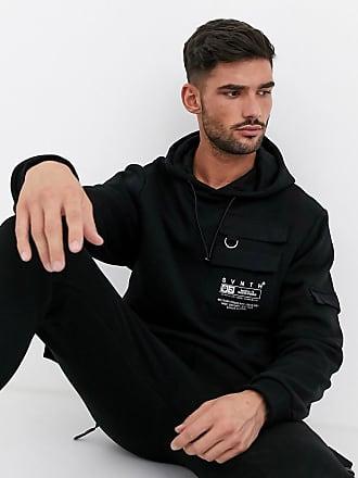 River Island co-ord utility hoodie in black