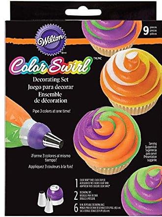 Wilton 9-Piece Color Swirl 3-Color Coupler Set
