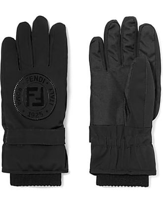 Fendi Appliquéd Stretch-jersey Ski Gloves - Black