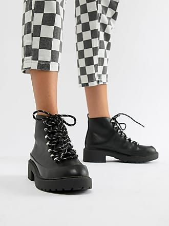 Qupid Qupid Hiker Chunky Ankle Boots - Black