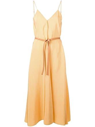 Forte_Forte Vestido longo com cinto - Amarelo