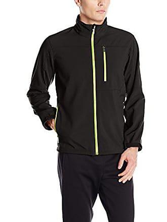 2(x)ist Mens Full Zip Jacket, Black/Neon Yellow Zipper, Medium