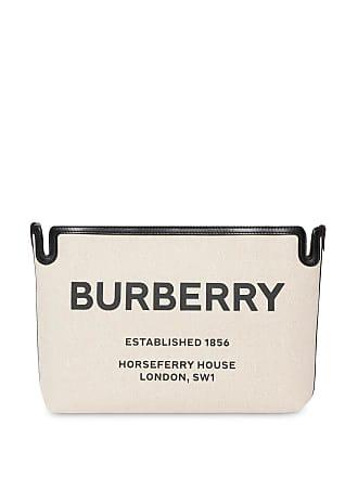 Burberry Clutch Horseferry média - Neutro