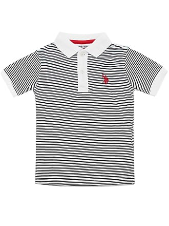 U.S.Polo Association Camiseta U.S. Polo Menino Listrada Cinza
