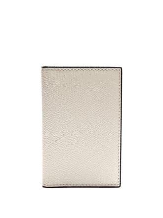 Valextra Bi Fold Leather Cardholder - Mens - White