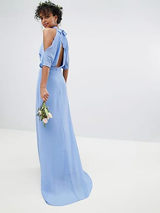 7dce1f86 Tfnc High Neck Maxi Bridesmaid Dress With Fishtail - Blue