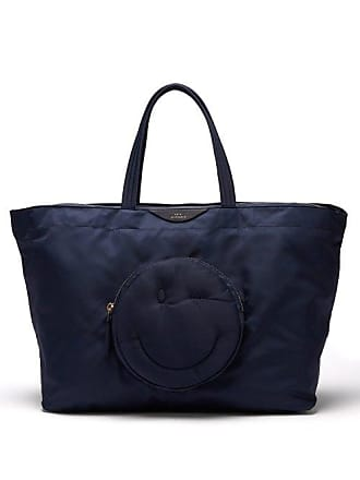 Anya Hindmarch Chubby Wink Nylon Tote Bag - Womens - Navy