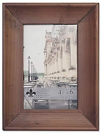 Lawrence Frames 4x6 Whitney Burnished Walnut Wood Picture Frame Brown