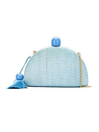 Isla Bolsa tiracolo mini de seda - Azul