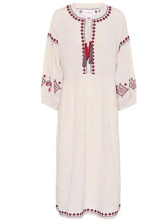 Velvet Etta embroidered cotton-blend dress