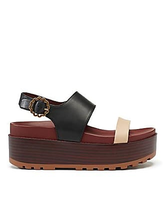 See By Chloé Two-tone wedge sandals