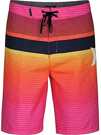 797402a8ae Hurley Mens Supersuede 21 inch Boardshort Swim Short, Hyper Pink/(White),