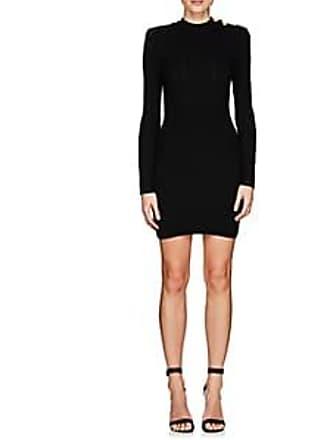 63909bee7e4 Balmain Womens Rib-Knit Wool-Blend Fitted Dress - Black Size 38 FR