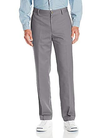 Van Heusen Mens No Iron Classic Fit Flat Front Pant, New Grey, 30W x 32L