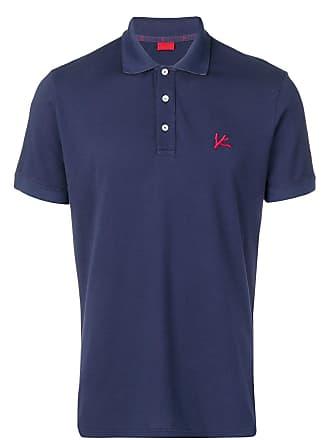 Isaia chest logo polo shirt - Blue