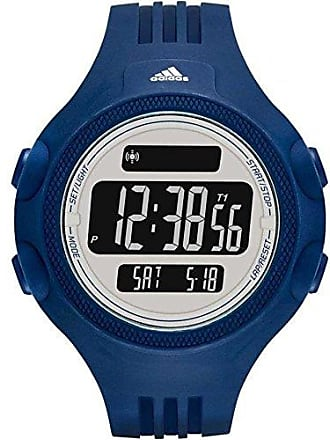 adidas Relógio Masculino Digital Adidas, Pulseira de Polímero Azul, Caixa de 5,4 cm, Cronômetro, Alarme, Calendário, Resistente à Água 5 ATM - ADP3266/8AN