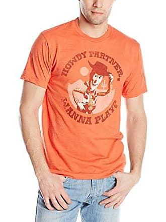 Disney Mens Toy Story Player, Orange Heather, X-Large