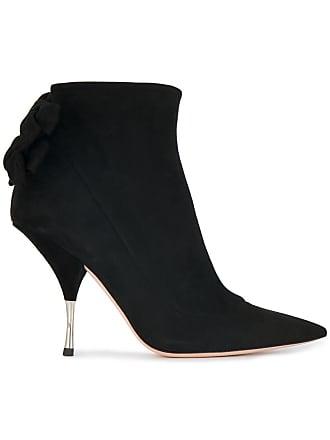 Rochas Ankle boot de couro e camurça 100 - Preto