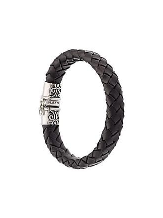 Nialaya Bracelete de couro - Preto