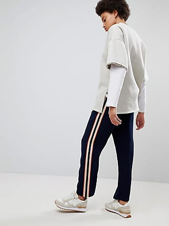 Asos ASOS Tailored Jogger with Side Stripe Panel - Navy