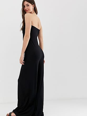 1a81785966bb Asos Tall ASOS DESIGN Tall bandeau jumpsuit with wide leg - Black