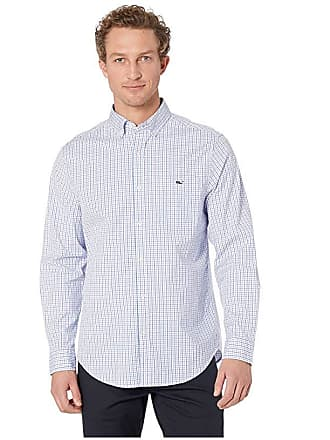 6e71ccac Vineyard Vines Tobago Tattersall Classic Tucker Shirt (Sea Urchin) Mens  Long Sleeve Button Up