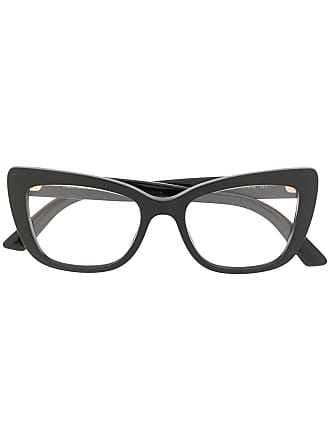 Dolce & Gabbana Eyewear cat eye frame glasses - Black