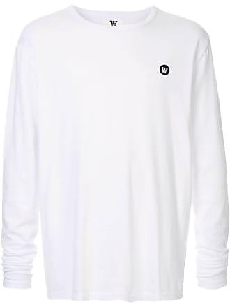 Wood Wood Camiseta de manga longa - Branco