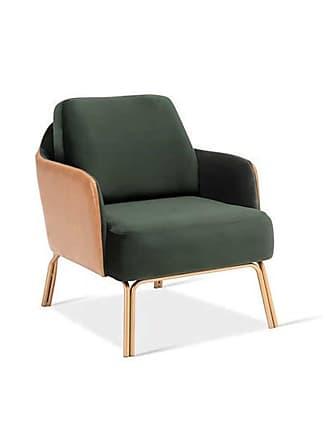 Atelier Clássico Poltrona Zara Base Aço Carbono Pintado Design Atemporal e Moderno Design by YE Design