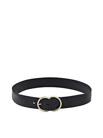 MASSIMO DUTTI LEATHER BELT WITH DOUBLE METAL BUCKLE